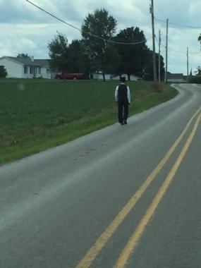AmishManWalking